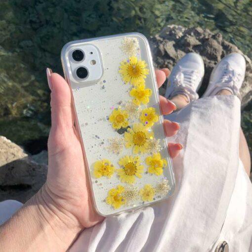 silikonski ovitek posuseno cvetje summer za iphone huawei samsung 1