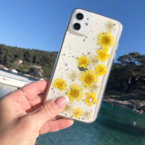 silikonski ovitek posuseno cvetje summer za iphone huawei samsung