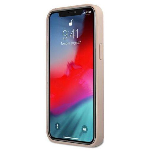 ovitek guess za iphone 12 12 pro big metal logo roza 3