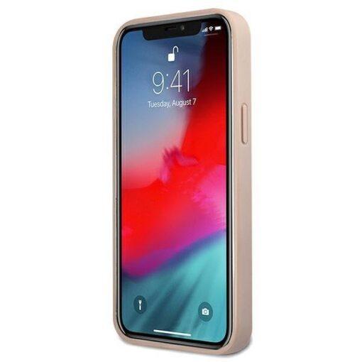 ovitek guess za iphone 12 mini big metal logo roza 3