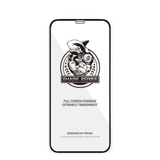 zascitno steklo Shark Full Glue s crno obrobo za iPhone 12 Pro iPhone 12 1