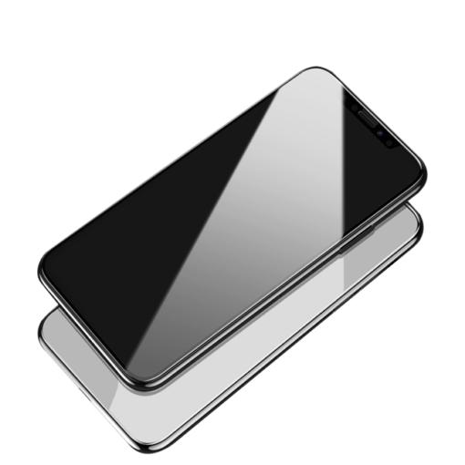 zascitno steklo Shark Full Glue s crno obrobo za iPhone 12 Pro iPhone 12 2