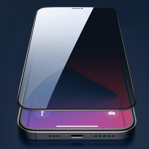 zascitno steklo privacy 5D full screen tempered glass za iPhone 12 Pro iPhone 12 s crno obrobo 1