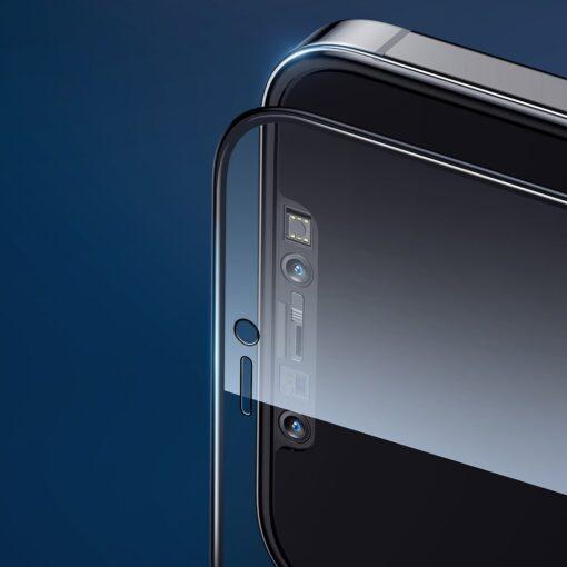 zascitno steklo privacy 5D full screen tempered glass za iPhone 12 Pro iPhone 12 s crno obrobo 2