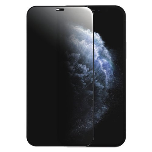 zascitno steklo privacy 5D full screen tempered glass za iPhone 12 Pro iPhone 12 s crno obrobo