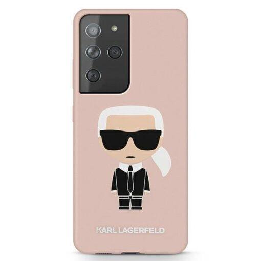 eng pl Karl Lagerfeld KLHCS21LSLFKPI S21 Ultra G998 hardcase light pink pink Silicone Iconic 68998 1
