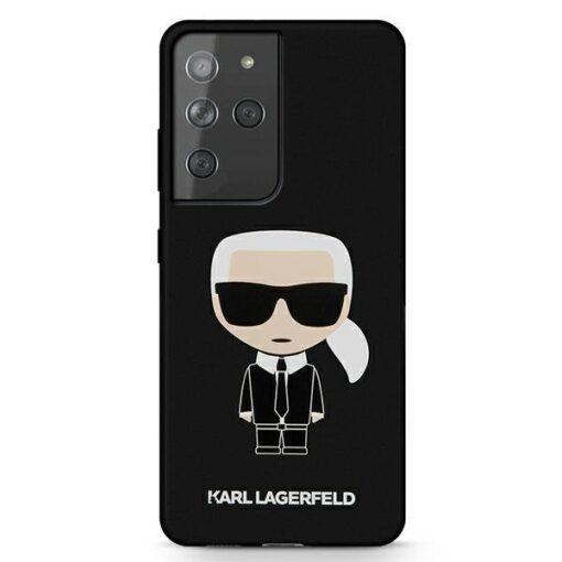 ovitek Karl Lagerfeld za samsung galaxy S21 Ultra hardcase crna black Silicone Iconic