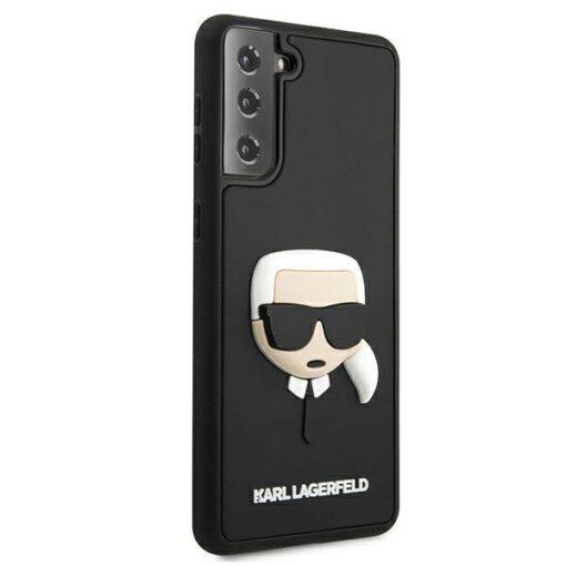 ovitek Karl Lagerfeld za samsung galaxy S21 crna black hardcase 3D Rubber Karls Head 4