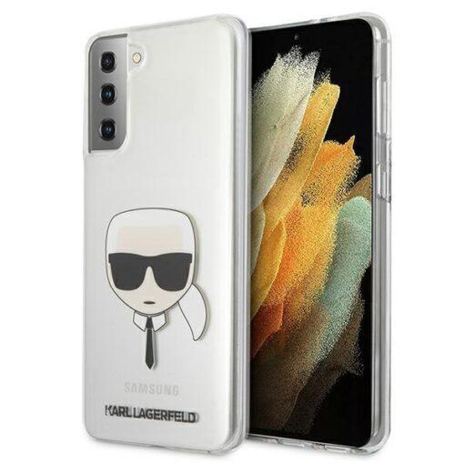 ovitek Karl Lagerfeld za samsung galaxy S21 hardcase Transparent Karls Head 1