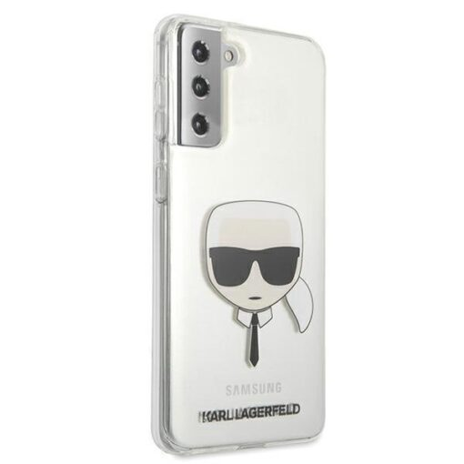 ovitek Karl Lagerfeld za samsung galaxy S21 hardcase Transparent Karls Head 4