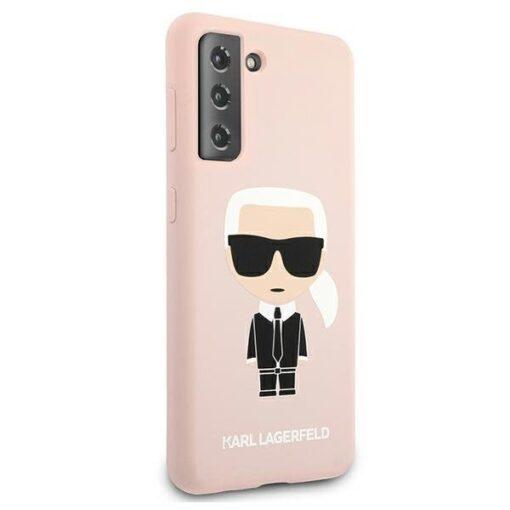 ovitek Karl Lagerfeld za samsung galaxy S21 hardcase roza light pink pink Silicone Iconic 4