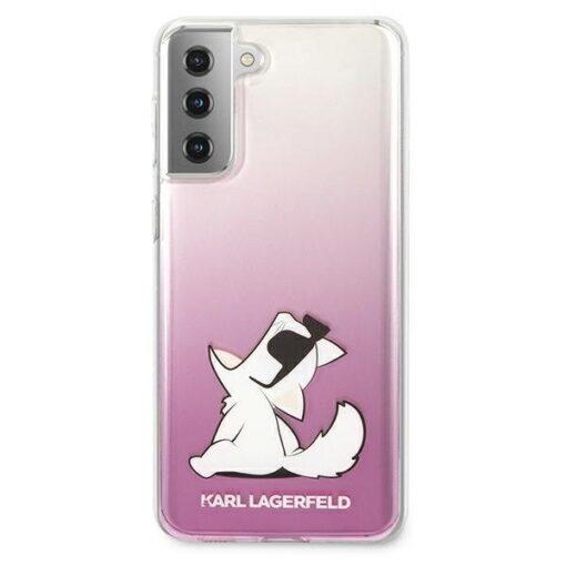 ovitek Karl Lagerfeld za samsung galaxy S21 hardcase roza pink Choupette Fun 3