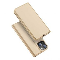 preklopni etui Dux Ducis Skin Pro za iPhone 13 13 mini zlata