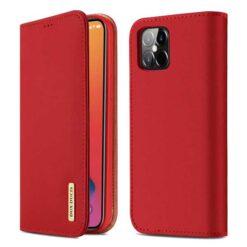 preklopni etui dux ducis wish genuine leather iphone 12 12 pro rdeca 1